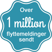 Over 1 million sendte flyttemeldinger